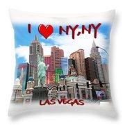 I Love Ny Ny Throw Pillow