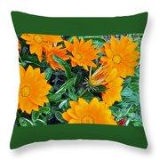 I Love Orange Flowers Throw Pillow