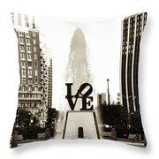 I Love Philadelphia Throw Pillow