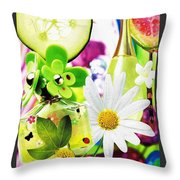 I Love Spring_with Border Throw Pillow