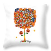 I Love Village - Poster Throw Pillow