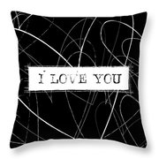 I Love You Word Art Throw Pillow