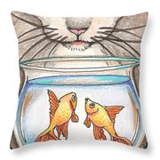 I Loves Fishes Throw Pillow