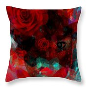 I Named You Rose Throw Pillow