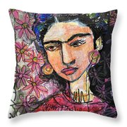 I Paint Flowers So They Will Not Die Throw Pillow