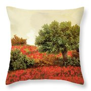 I Papaveri Sulla Collina Throw Pillow
