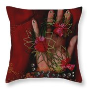 I Reach Love Peace In Life With My Hand Throw Pillow