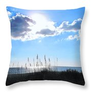 I Sat And Watched The Sun Go Down Throw Pillow