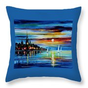 I Saw A Dream - Palette Knife Oil Painting On Canvas By Leonid Afremov Throw Pillow