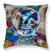 I See Painted Faces Throw Pillow