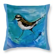 I See You Said The Killdeer As She Passed By Throw Pillow