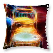 I Sing The Drums Electric Throw Pillow
