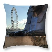 I Sphinx It Is The London Eye Throw Pillow