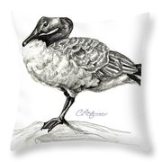 I Stand On The Brink Throw Pillow