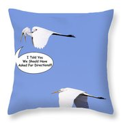 I Told You We Should Have Asked For Directions Throw Pillow