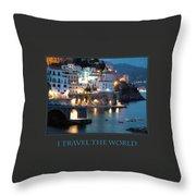 I Travel The World Amalfi Throw Pillow