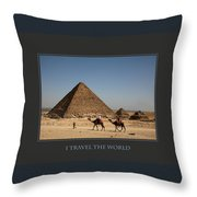 I Travel The World Cairo Throw Pillow