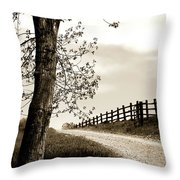 I Walk The Gravel Road 2 Throw Pillow