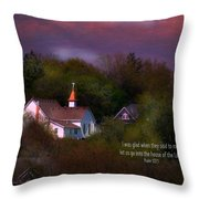 I Was Glad Throw Pillow