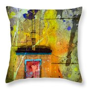 I Wear My Heart On The The Door Throw Pillow