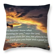 I Will Give You Hope Throw Pillow