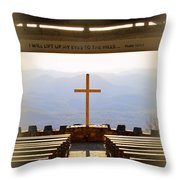 I Will Lift My Eyes To The Hills Psalm 121 1 Vertical 2 Throw Pillow