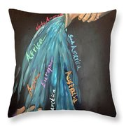 I Will Pour Out The Nations Throw Pillow