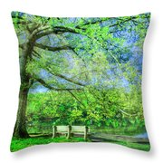 I Will Wait For You In Summer Throw Pillow