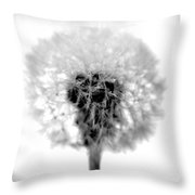 I Wish In Black And White Throw Pillow