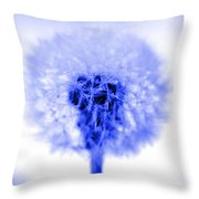 I Wish In Blue Throw Pillow