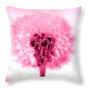 I Wish In Pink Throw Pillow