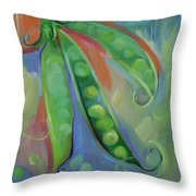 I Wish You Peas Throw Pillow