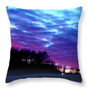 I70 West Ohio Throw Pillow