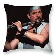 Ian Anderson Of Jethro Tull Throw Pillow