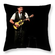 Ian Anderson Of Juthro Tull  Live Concert Throw Pillow