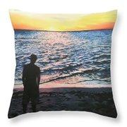 Ian's Sunset Throw Pillow