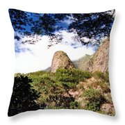 Iao Valley Throw Pillow