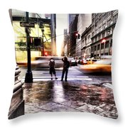 Idb On Fifth Throw Pillow