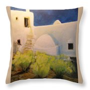 Ibicencan Country House Throw Pillow