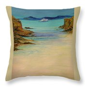 Ibiza In The Distance.... Throw Pillow