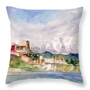 Ibiza Panoramic 02 Throw Pillow