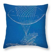 Icarus Airborn Patent Artwork Throw Pillow by Nikki Marie Smith