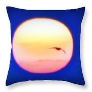 Icarus Flying Into The Sun Throw Pillow