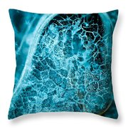 Ice Abstract Deep Blue Throw Pillow