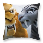 Ice Age Continental Drift Throw Pillow