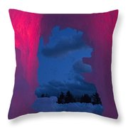 Ice And Colors  Throw Pillow