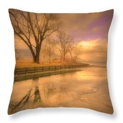 Ice And Light Throw Pillow