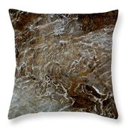 Ice And Rock Abstract Throw Pillow