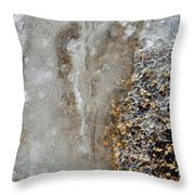 Ice And The Beach  Throw Pillow