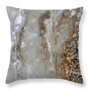 Ice And The Beach Two  Throw Pillow